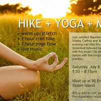 Staten Island Hike  Outdoor Yoga Practice with Live music