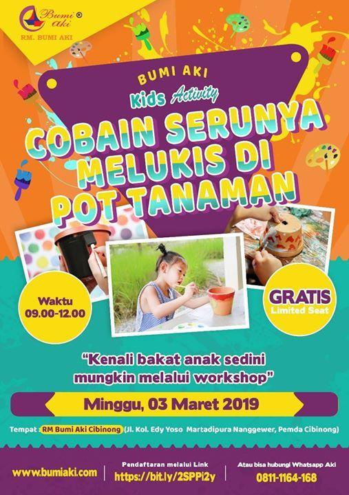 Kids Activity Melukis Pot Tanaman