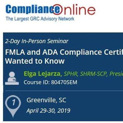 FMLA and ADA Compliance Certificate Program (COM)