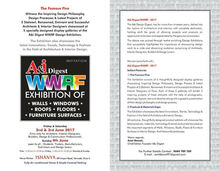 Ai digest famous five wwrf design exhibition stall no 25 at ai digest famous five wwrf design exhibition stall no 25 stopboris Choice Image