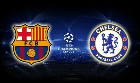 Resultat d'imatges de logos fc barcelona vs chelsea