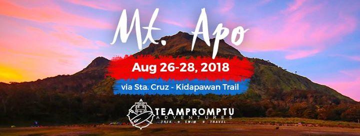 Mt Apo via Sta Cruz-Kidapawan Trail Cleanup drive