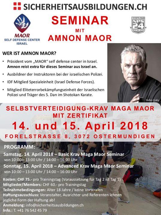 KRAV MAGA SEMINAR MIT AMNON MAOR at Forelstrasse 8, 3072 ...