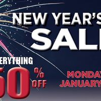 New Years Day Sale 50% OFF Everything