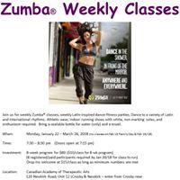 Zumba Fitness Weekly Classes