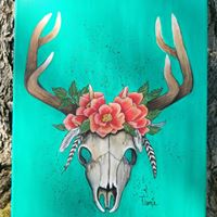 Deer Skull Paint Night and Oct1st
