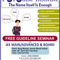 Guideline Seminar for JEE MainAdvanced and Board