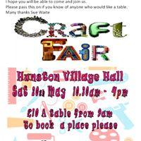 Craft Fair - Hunston Village Hall - Sat 20th May