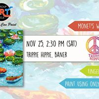 Monets Water Lilies - Finger Painting (Baner)