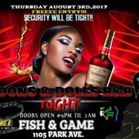R&ampB NIGHT on Thursdays (AUG 3rd2017) at The FISH &amp GAME Club