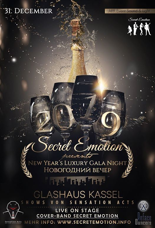Silvester Luxury Gala Night 2018 2019 At Glashaus Kassel Weimar