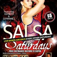 Salsa Party Saturdays - Free Before 930pm