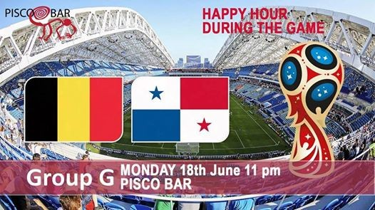 Belgium vs Panama - World Cup at Pisco Bar
