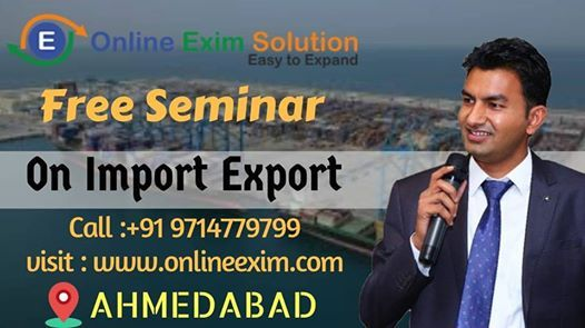Free Seminar on export import business