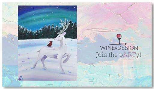 Winter Paint And Sip At Wine Design Winston Salem Nc Winston Salem