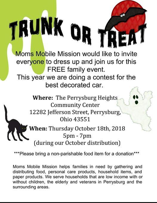 2nd Annual Trunk Or Treat at Perrysburg Heights Community