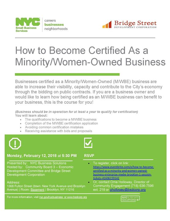 How To Become A Mwbe Certified Business At Bedford Stuyvesant