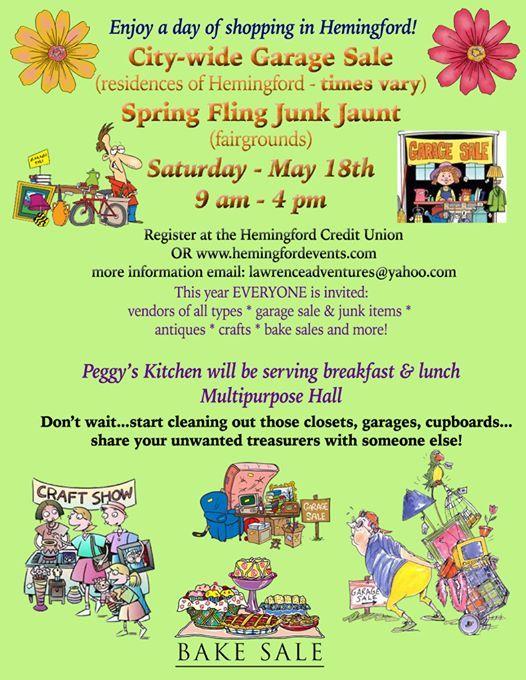 City Wide Garage Sale Spring Fling Junk Jaunt At Hemingford