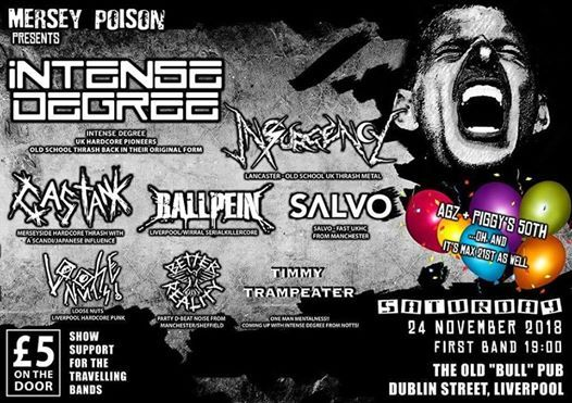 Intense Degree (The Comeback!) plus 7 more bands! at DROP