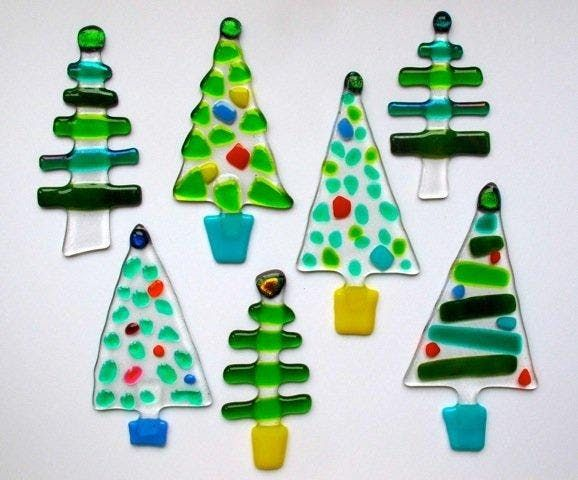 fused glass christmas decorations with ros ingram - Glass Christmas Decorations