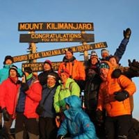 Xmas Celebration in Uhuru Peak 5895m