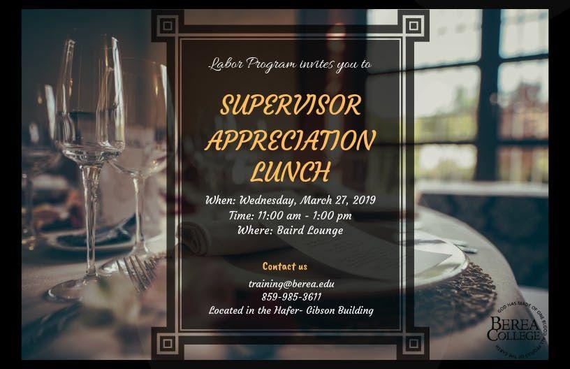 Supervisor Appreciation