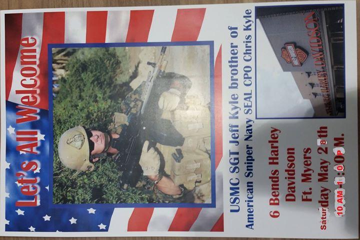 Usmc Sgt Jeff Kyle At 6 Bends Harley Davidson Ft Myers Fl Fort Myers