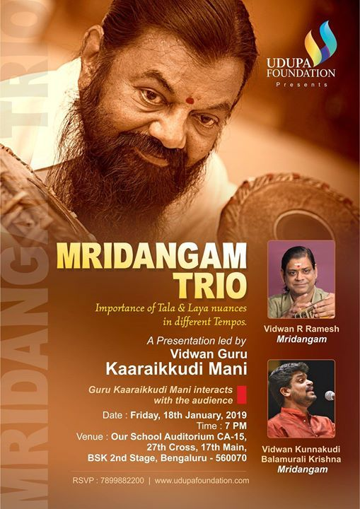 Mridangam Trio an event by Udupa Foundation