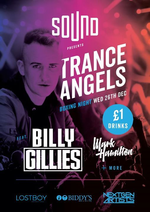 BOXING NIGHT at BIDDYSSOUND FT. BILLY GILLIES  1 DRINKS