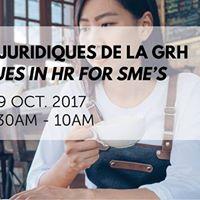 Les aspects juridiques de la GRH  Legal Issues in HR for SMEs