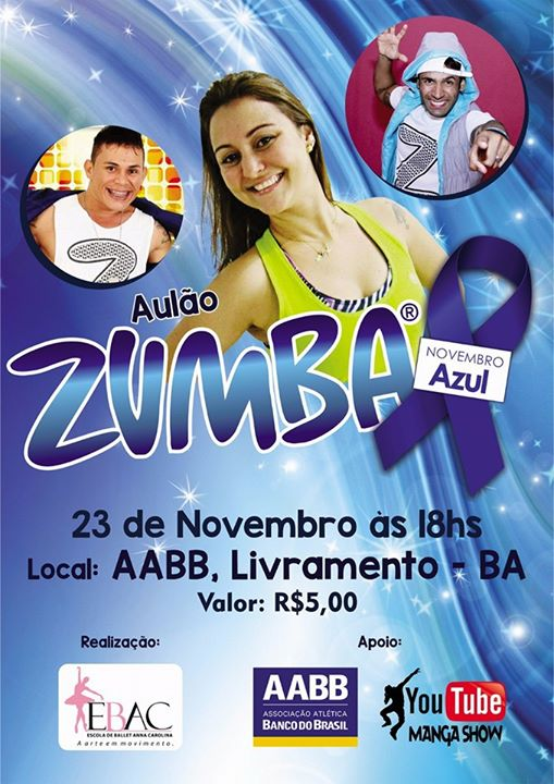 Zumba - Novembro Azul at AABB Livramento, Santana do Livramento