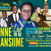 THIS SATURDAY...AFRICAS QUEEN OF COMEDY ANNE KANSIIME LIVE IN NJ