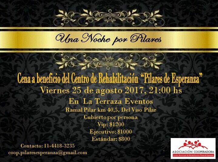 Cena Show A Beneficio De Centro De Rehabilitación Pilares De