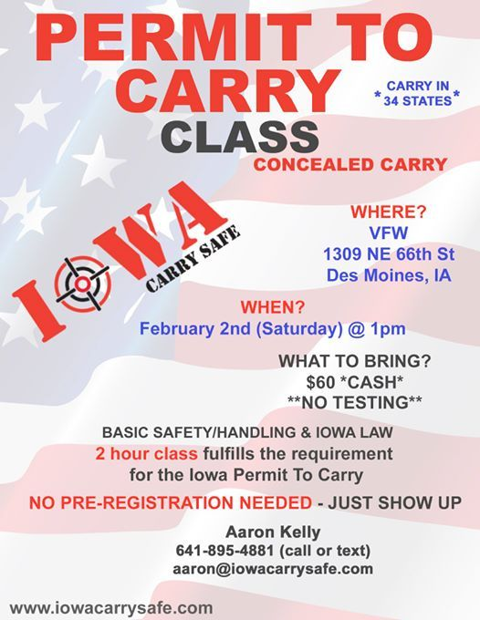 Permit To Carry Class in Des Moines
