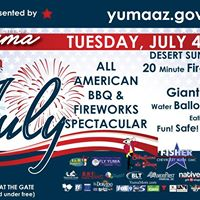 City of Yumas 4th of July Fireworks Spectacular
