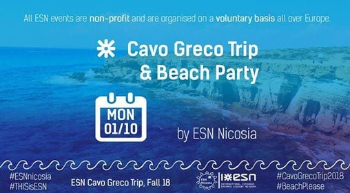 Cavo Greco Trip & Beach Party [ESN Welcome Week Fall 18]