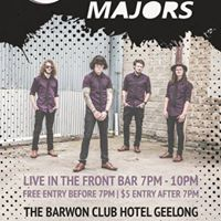 The Hollow Majors  Free entry before 7pm