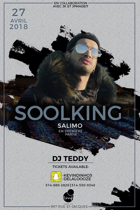 Soolking en Showcase a Montreal le 27 avril