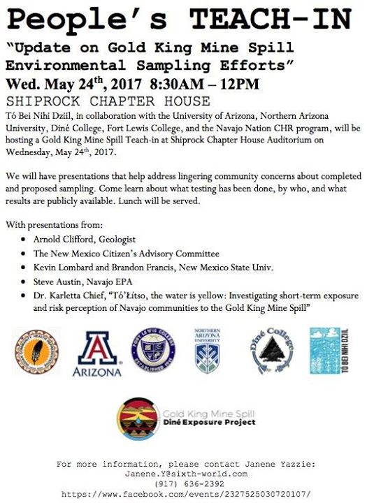Peoples Teach-In: Update on Gold King Mine Spill Env