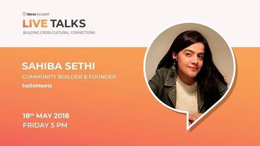 Live talk by Sahiba Sethi