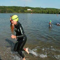 Lakeside triathlon race simulation day