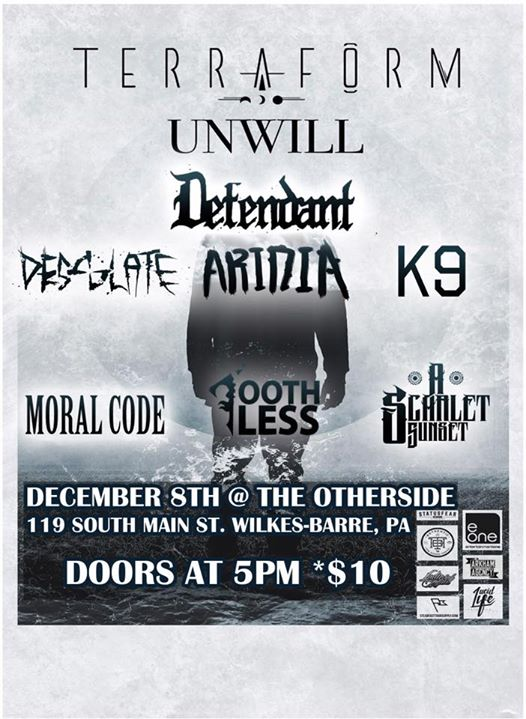 12/8 Terraform w/ Defendant, Desolate, Aridia, K9, Moral