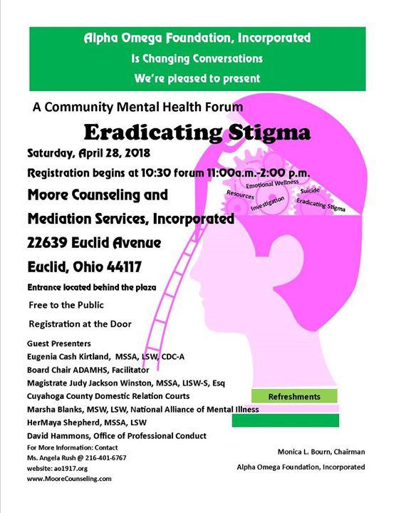 Community Mental Health Forum Eradicating Stigma At Moore