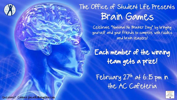 National no brainer day brain games at angelina college cafeteria national no brainer day brain games solutioingenieria Images
