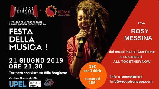 Festa Della Musica Con Rosy Messina Terrazza Su Villa
