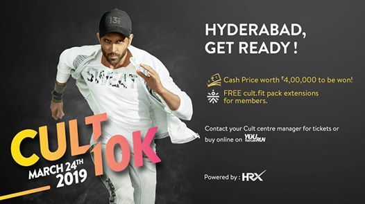 CULT 10K Run in Hyderabad