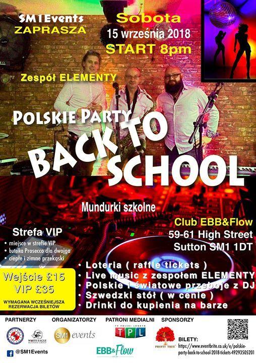 Polskie Party Back to School 2018