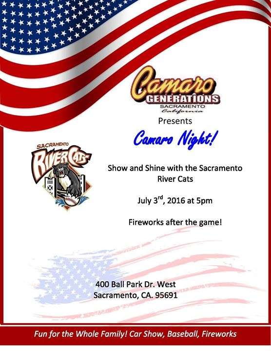 Camaro Night with Sacramento River Cats at Raley Field, West Sacramento