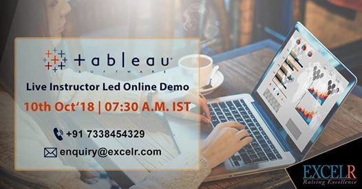 Live Instructor Led Online Demo On Tableau