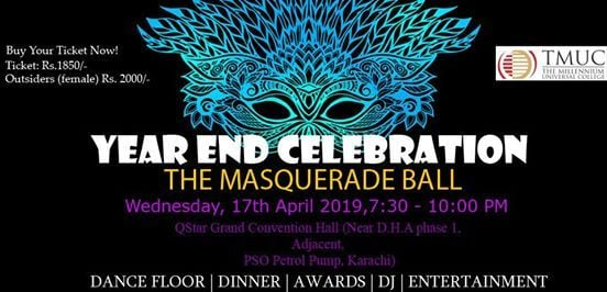 Year End Celebration The Masquerade Ball at The Millennium Universal